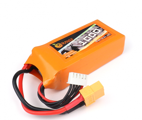 Orange 1000mAh 4S 30C/60C Lithium polymer battery Pack (LiPo)