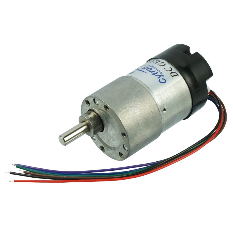 Dc Geared Motor With Encoder 12 Rpm 120n Cm 12v Spg30e