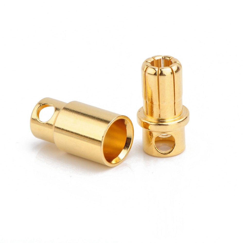 8mm Gold Plated Bullet Connector Male-Female Pair - Robu in | Indian Online  Store | RC Hobby | Robotics