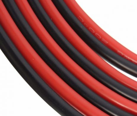 High Quality 10AWG Silicone Wire 1m (Black) + 1m (Red)