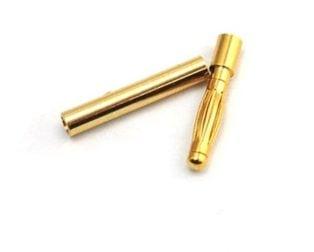2mm Gold Connectors-3 Pairs (6pcs.)