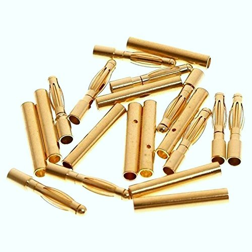 2mm Gold Connectors-3 Pairs (6pcs.)