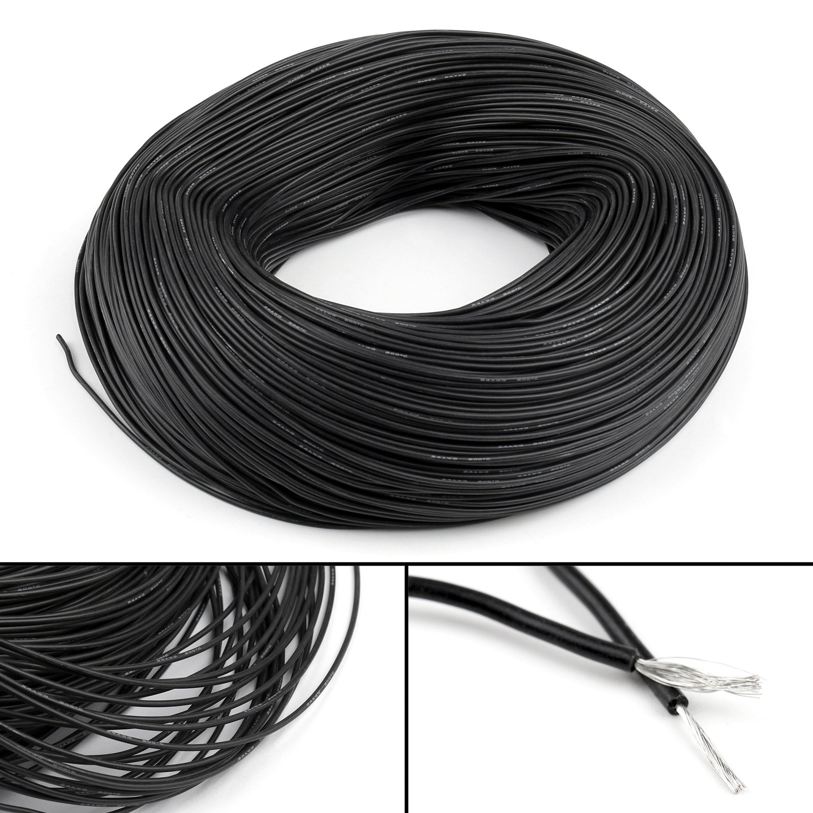 High Quality 22AWG Silicone Wire 10m (Black)