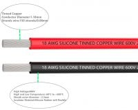 High Quality 18AWG Silicone Wire 3m (Black) + 3m (Red)