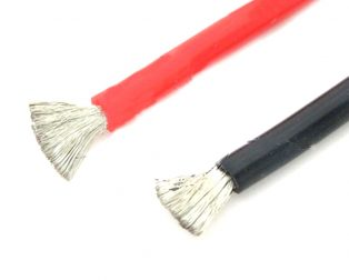 High Quality 8AWG Silicone Wire 1m (Red) + 1m (Black)