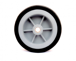 EasyMech Heavy Duty(HD) Disc Wheel 100mm Dia (Gray) - 1Pcs