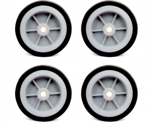 EasyMech Heavy Duty(HD) Disc Wheel 100mm Diameter (Gray) - 4Pc