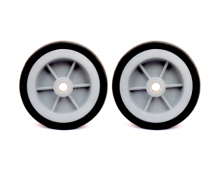 EasyMech Heavy Duty(HD) Disc Wheel 100mm Dia. (Gray) - 2Pc