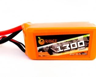 Orange 1300MAH 4S 100C/200C Lithium polymer battery Pack (LiPo)