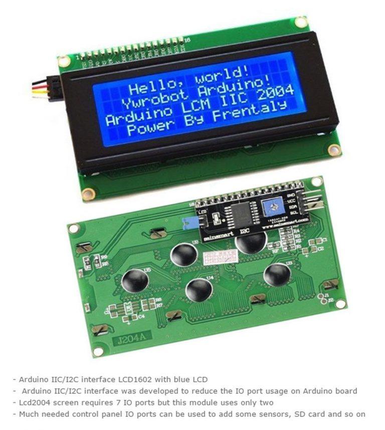 Serial 2004 20 X 4 IIC/I2C/TWI Blue Backlight LCD Module