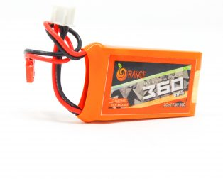 ORANGE 360MAH 2S 30C60C LITHIUM POLYMER BATTERY PACK (LIPO) ROBU.IN
