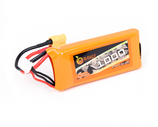 Orange 1000mah 2S 30C/60C Lithium Polymer Battery Pack (LiPo)