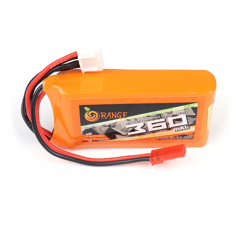 Orange 360mAh 3S 30C/60C (11.1v) Lithium Polymer Battery Pack (LiPo)