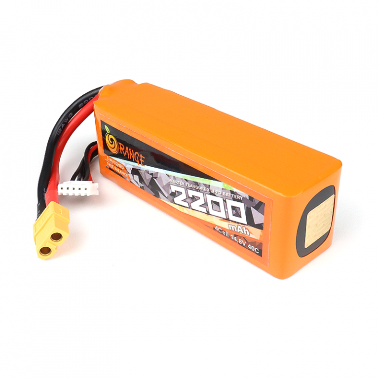 Orange 2200mah 4S 40C/80C Lithium Polymer Battery Pack (LiPo)