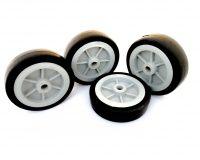 EasyMech Heavy Duty(HD) Disc Wheel 100mm Dia - 4Pc (Grey Color)