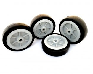 EasyMech Heavy Duty(HD) Disc Wheel 100mm Dia - 4Pc (Grey Color)