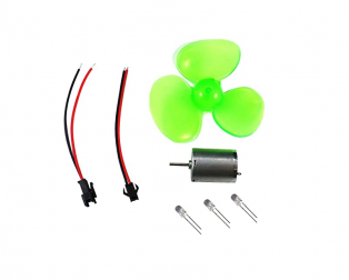 100 mm Big Four-Leaf Micro Wind Generator DC Motor with Propeller and LED