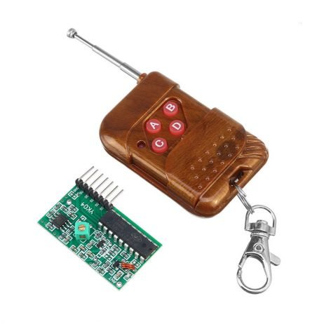 4 Channel Wireless Four Button Remote Control Transmitter Receiver Module (Mode: Non Locking)