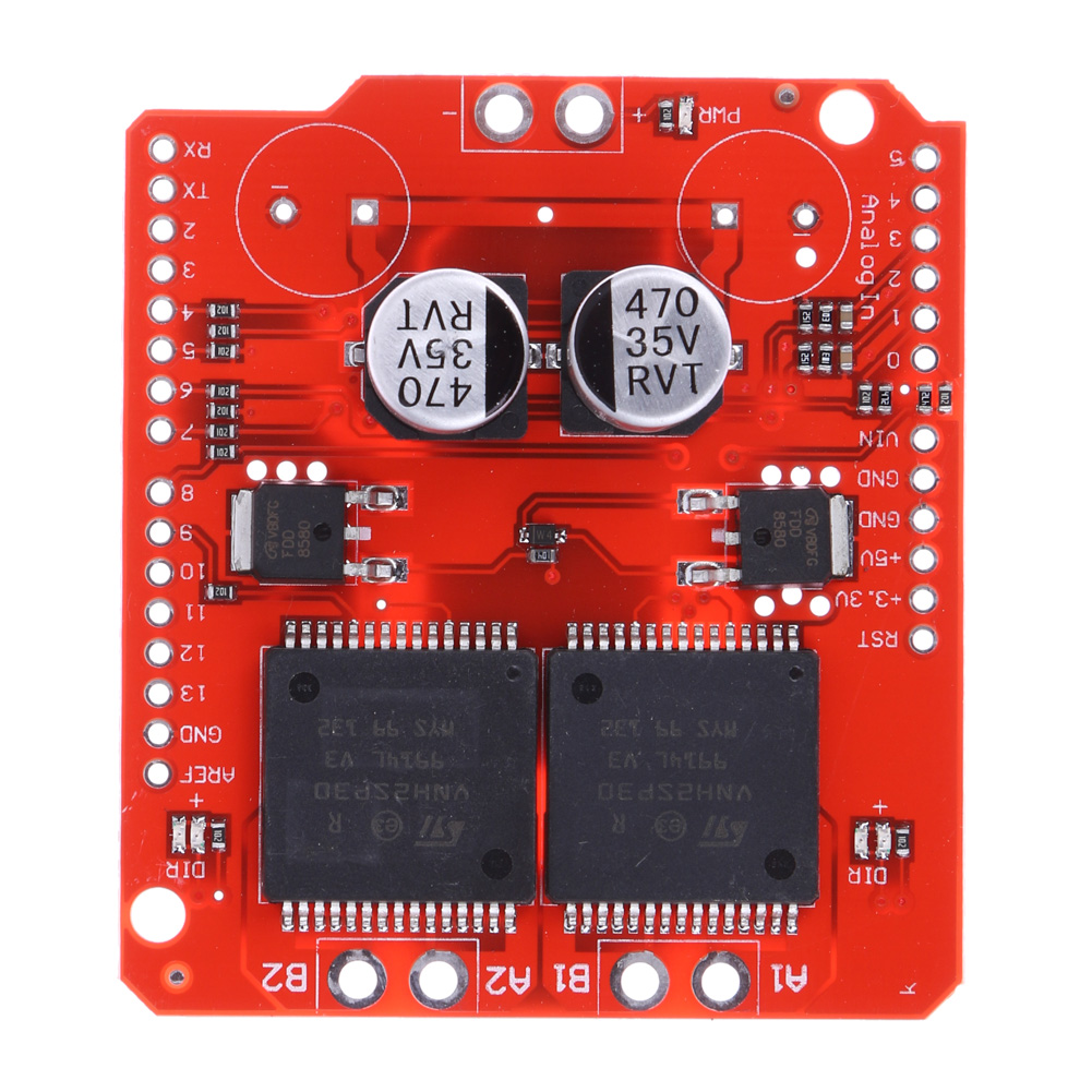 Dual Monster Moto Shield VNH2SP30 DC Motor Driver 2x14A (Peak 30A) -  Robu in | Indian Online Store | RC Hobby | Robotics