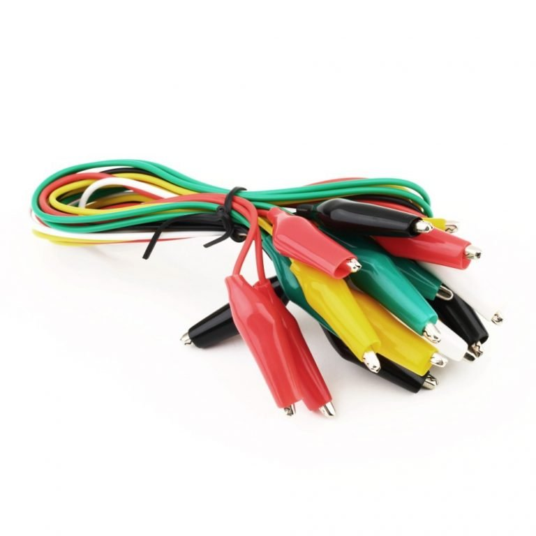Alligator Clips Electrical DIY Test Leads 10pcs For Test Leads Double-ended Crocodile Clips Roach Clip Test Jumper Wire