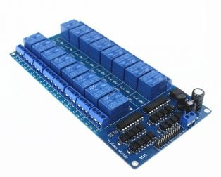 16 Channel Relay Module with Light Coupling LM2576 Power Supply