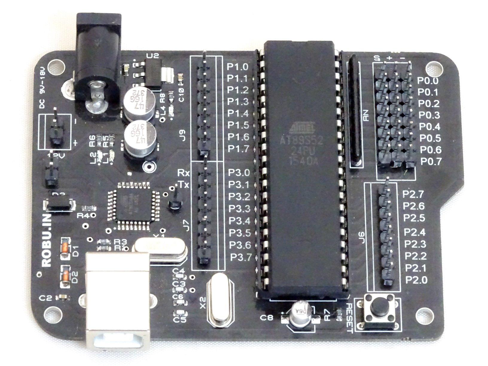 Aryabhatta 8051 Development Board AT89S52 with Onboard USB Programmer
