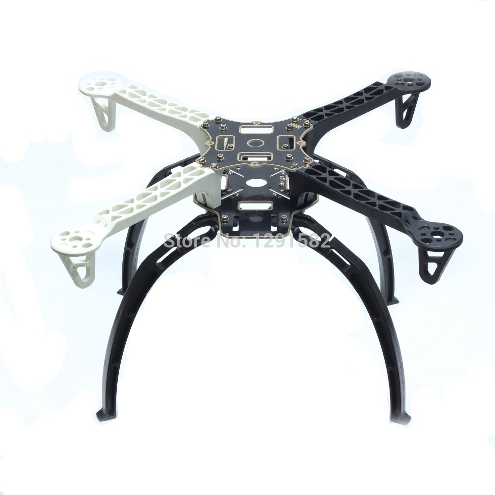 F450 450 Quadcopter MultiCopter Frame kit (White+ Black) Tall Landing Gear and Integrated PCB