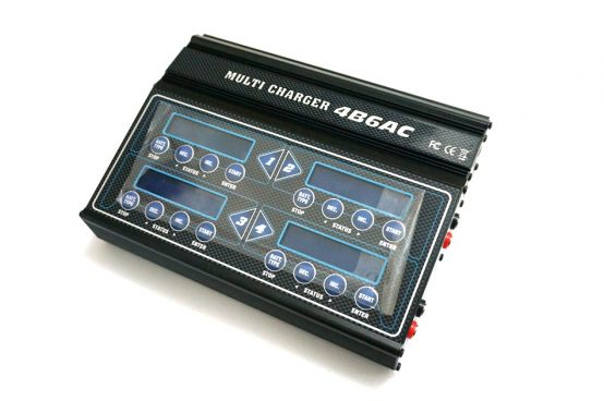Quattro DC/AC 4B6AC 4 In 1 Multi LiPo Charger With Case