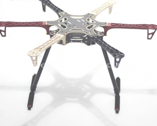 Hexacopter frame with landing gear