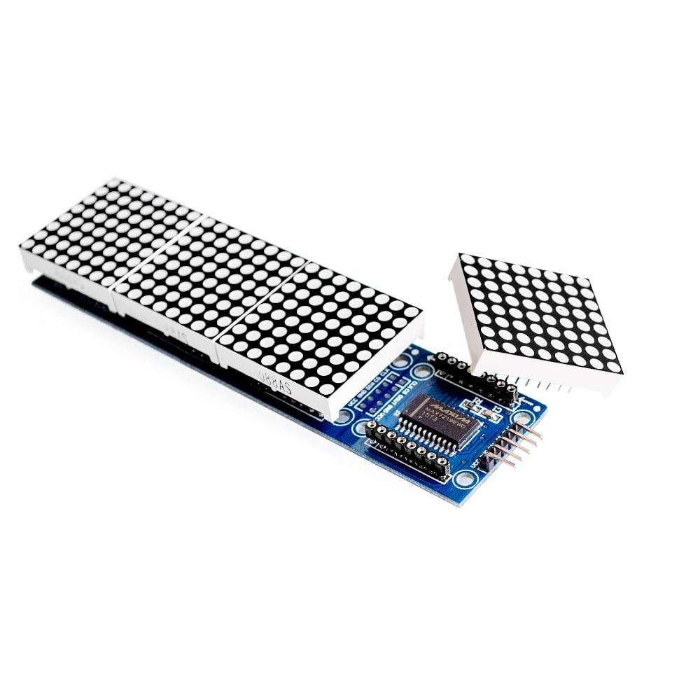 MAX7219 Microcontroller 4 In 1 Display With 5P Line Dot Matrix Module Arduino