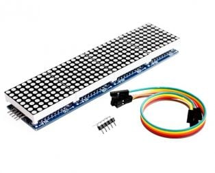 MAX7219 Dot Matrix 4 In 1 Display with 5P Line Module For Arduino Micro-controller