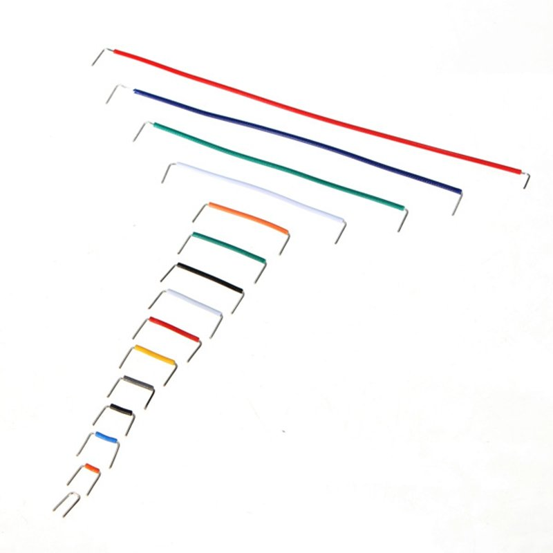 140 pcs u shape solderless breadboard jumper cable wire
