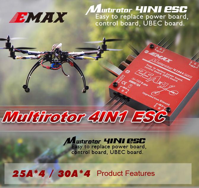 EMAX 4 x 30A 2-4S 4-in-1 ESC for Multirotor(Original)