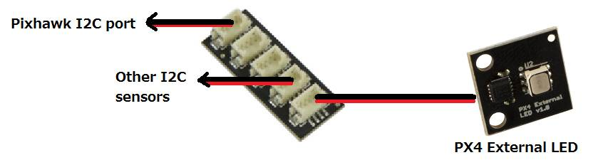 Pixhawk I2C Port Expand Board with Cable