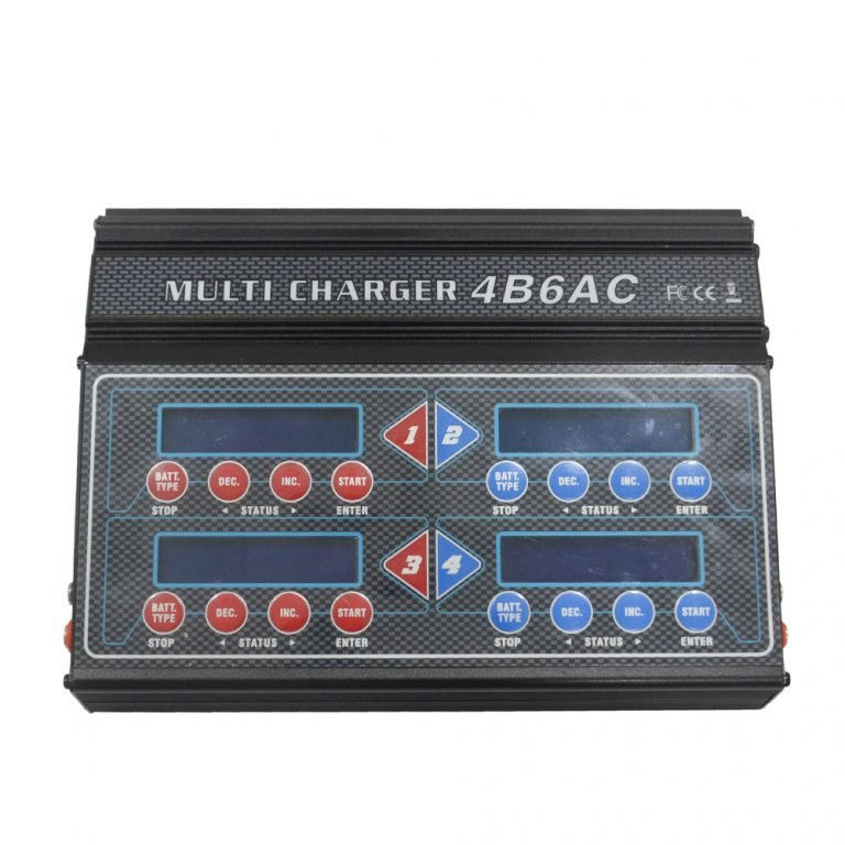 Quattro DC/AC 4B6AC 4 In 1 Multi LiPo Charger With Brief-Case