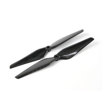 Orange HD Propellers 9443(9.4X4.3) DJI Carbon Fiber Black 1CW+1CCW-1pair