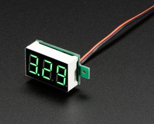 2 wire green voltmeter