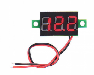 DC 3.6-28V 2 wire Red LED display digital voltage Voltmeter Panel (Robu.in)