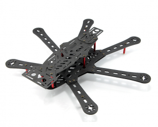 Mini 290 290mm Hexacopter 6 Axles FPV Racer Pure Carbon Fiber frame Kit