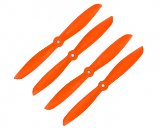 Orange HD Propellers 6045(6X4.5) Glass Fiber Nylon Propeller 2CW+2CCW-2pairs Orange