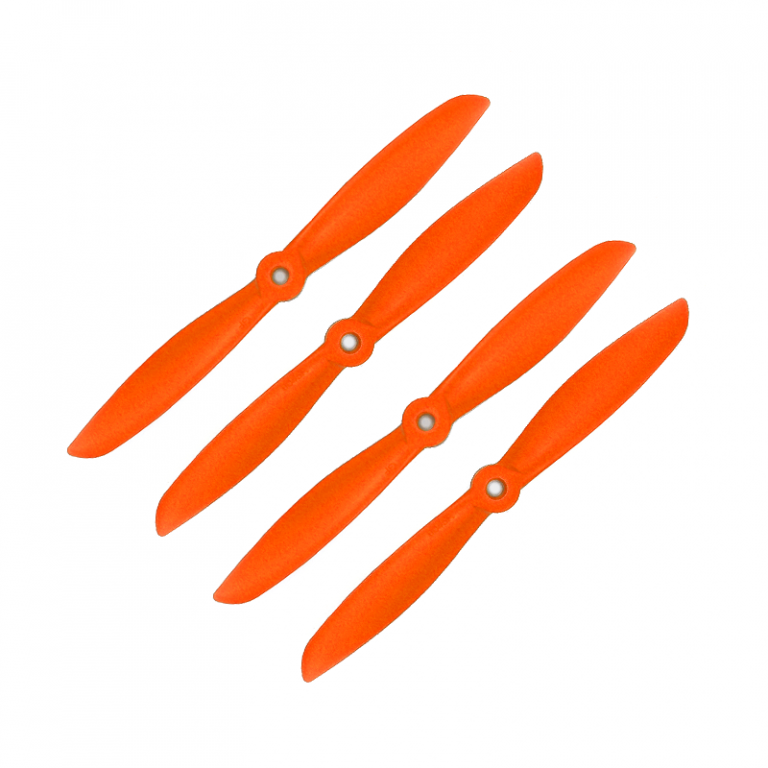 Orange HD Propellers 6045(6X4.5) Glass Fiber Nylon Propeller 2CW+2CCW-2pairs Orange