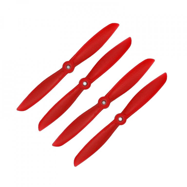 Orange HD Propellers 6045(6X4.5) Glass Fiber Nylon Prop 2CW+2CCW-2pairs Red