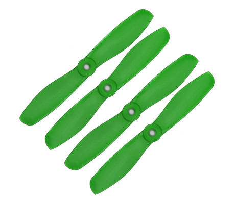 Orange HD Propellers 5045(5X4.5) Glass Fiber Nylon Bullnose Propellers 2CW+2CCW-2pairs Green