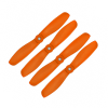 Orange HD Propellers 5045(5X4.5) Glass Fiber Nylon Bullnose Propeller 2CW+2CCW-2pairs Orange