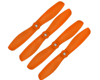 Orange HD Propellers 5045(5X4.5) Glass Fiber Nylon Bullnose Propeller 2CW+2CCW-2pairs Orange