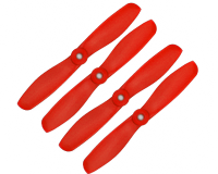 Orange HD Propellers 5045(5X4.5) Glass Fiber Nylon Bullnose Prop 2CW+2CCW-2pairs Red