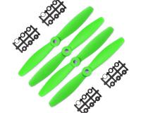 Orange HD Propellers 6040(6X4.0) Glass Fiber Nylon Bullnose Propeller 2CW+2CCW-2pairs Green