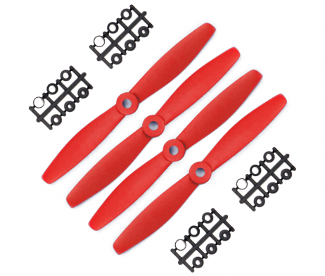 Orange HD Propellers 6040(6X4.0) Glass Fiber Nylon Bullnose 2CW+2CCW-2pairs Red
