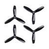 Orange HD Propellers 5045(5X4.5) Tri Blade Bullnose Polycarbonate Black 2CW+2CCW-2pairs