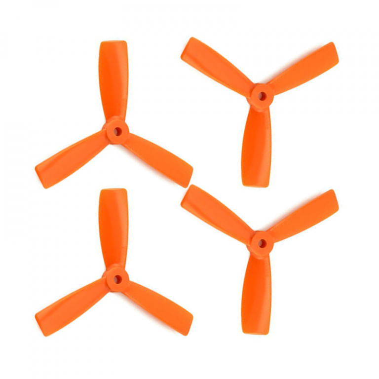Orange HD Propellers 5045(5X4.5) Tri Blade Bullnose Polycarbonate Orange 2CW+2CCW-2pairs